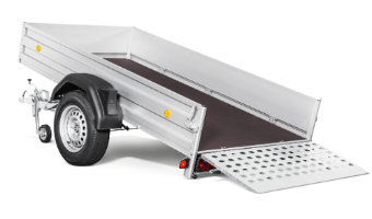 Tipping low-bed trailers
